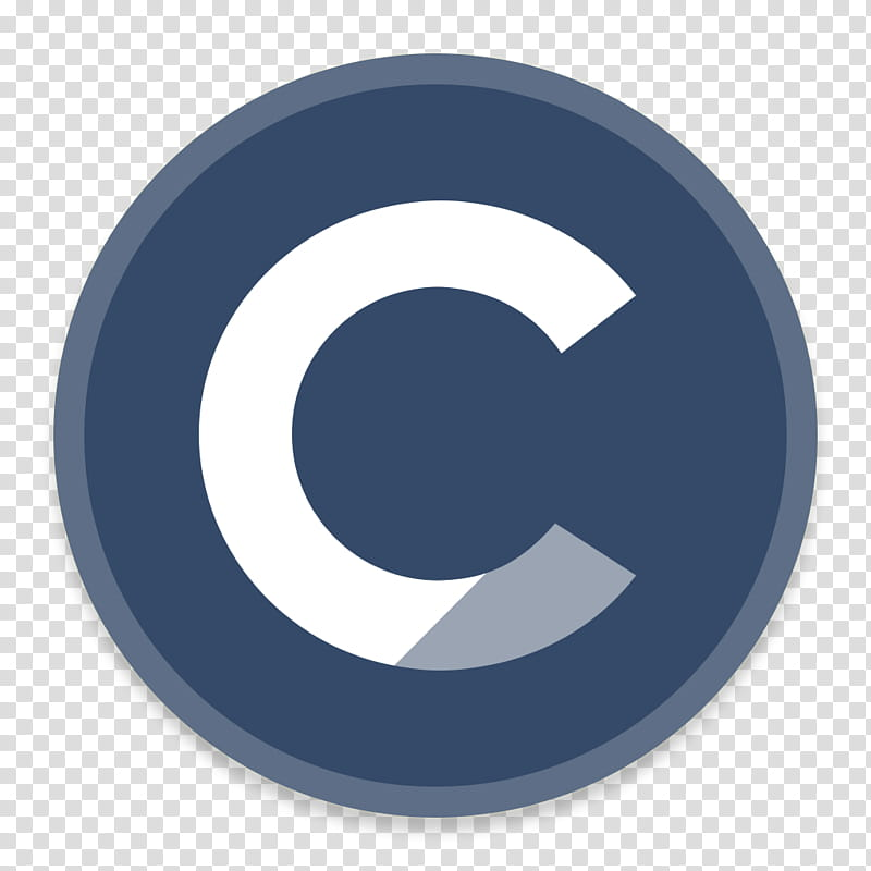 Button UI Requests, round blue and white C logo transparent.