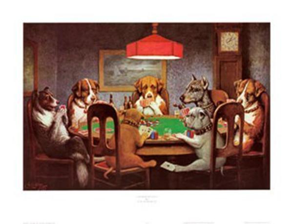 Dogs Playing Poker.