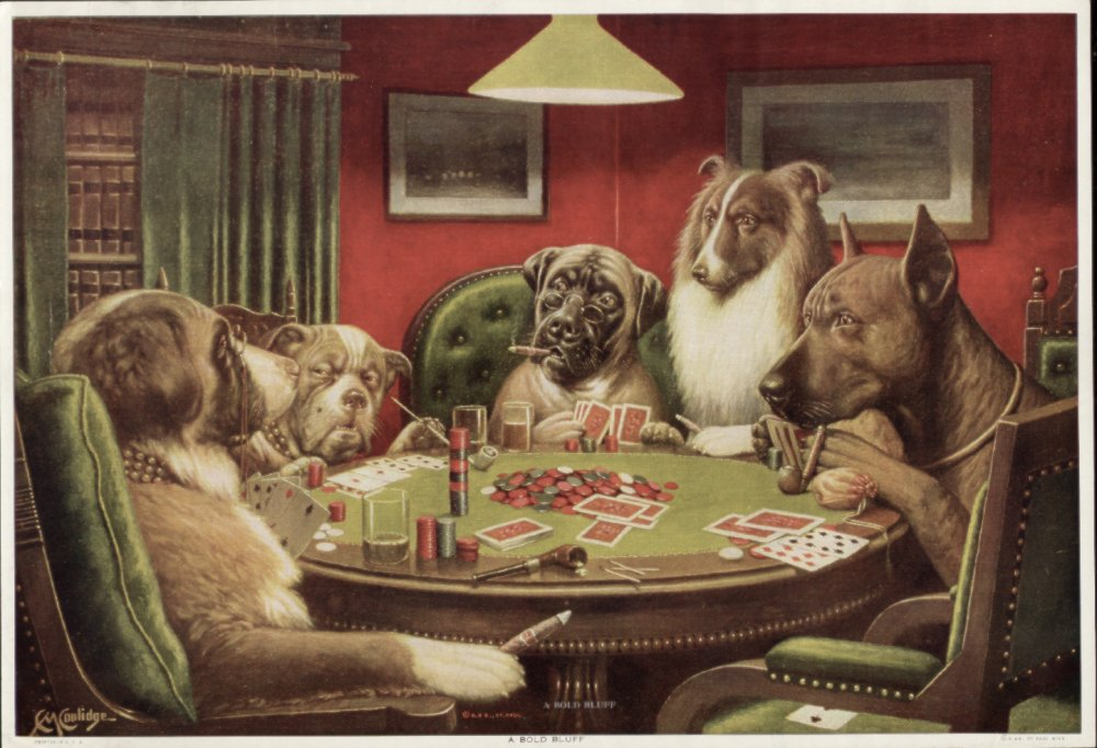 1000+ images about Poker dogs on Pinterest.