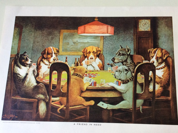 C. M. Coolidge Poker Dogs / Masterpiece by Queenofhearts4443.