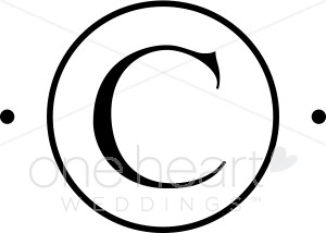 Monogram C Clipart.