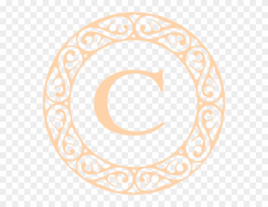 Clip Free Stock C Monogram Clipart.