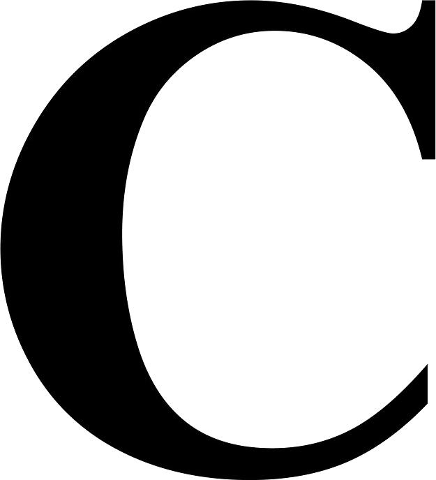C Icon Clipart.