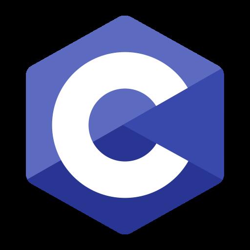 C programming Logo Icon of Flat style.