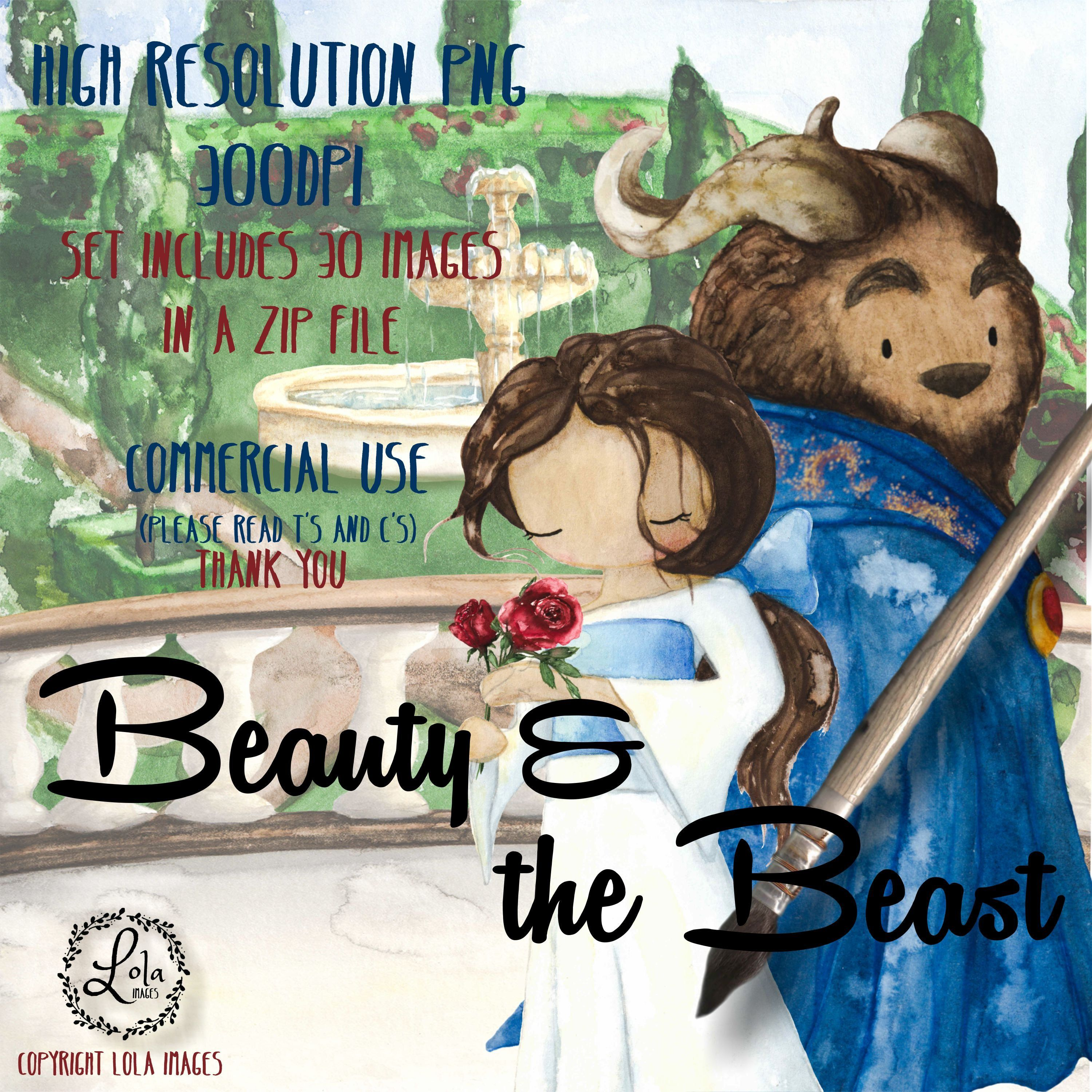 Beauty and the Beast Clipart Fairy Tale Clip Art Grimm Clip.