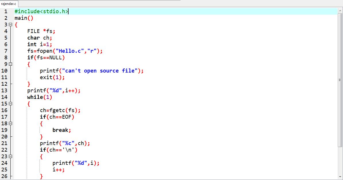PROGRAMS WORLD ( ALL C PROGRAMS AND HTML ): Write a C Program to.