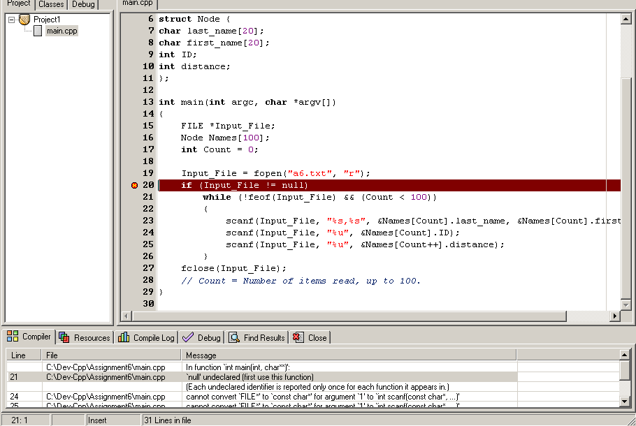 C++ Read File into an Array.