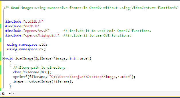 OpenCV C++ Tutorial And Examples: Reading images sequentially.