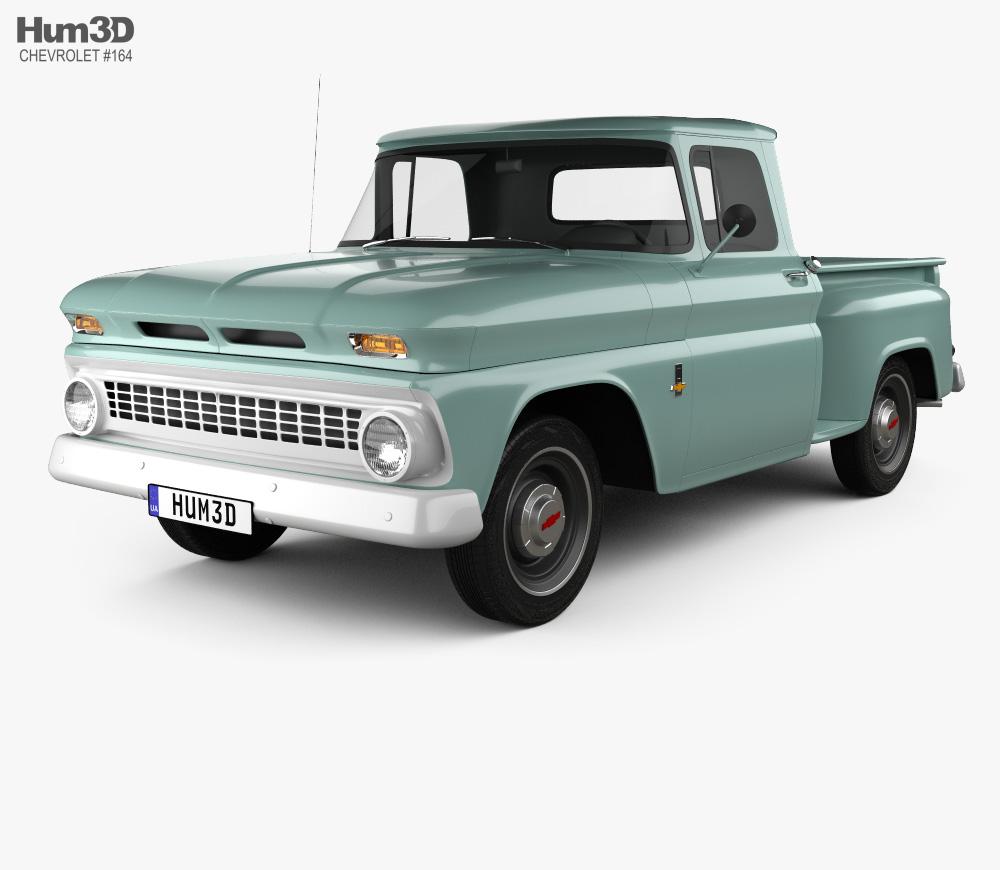Chevrolet C10 (K10) 1963 3D model.