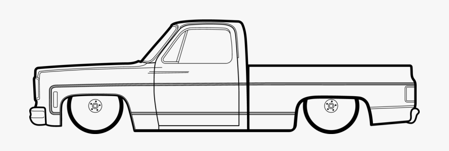Square Body C10 Drawing, Cliparts & Cartoons.