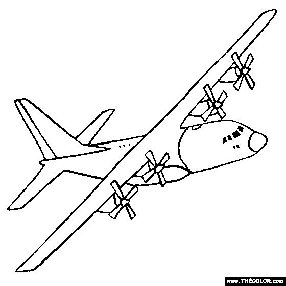Military Cargo Aircraft Clipart
