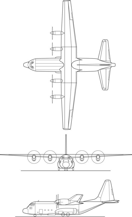 C 130 hercules clipart.