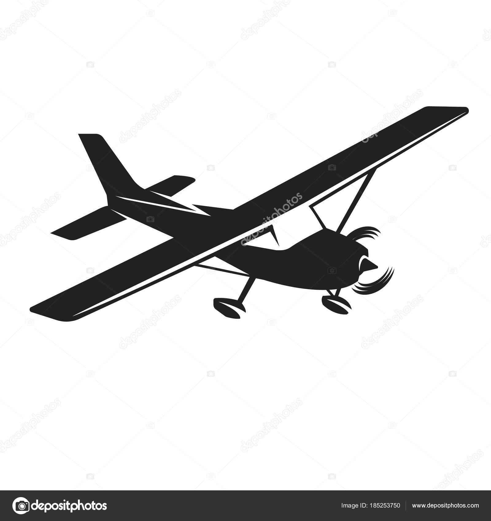 Single Engine Plane Silhouette.
