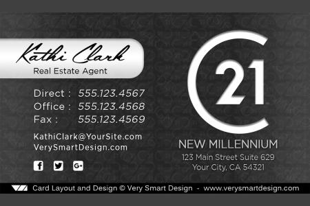 Century 21 Business Cards New C21 Logo for Real Estate 18D.