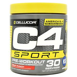 Details about Cellucor C4 SPORT Pre Workout Explosive Energy Performance 30  Servings 3 FLAVORS.
