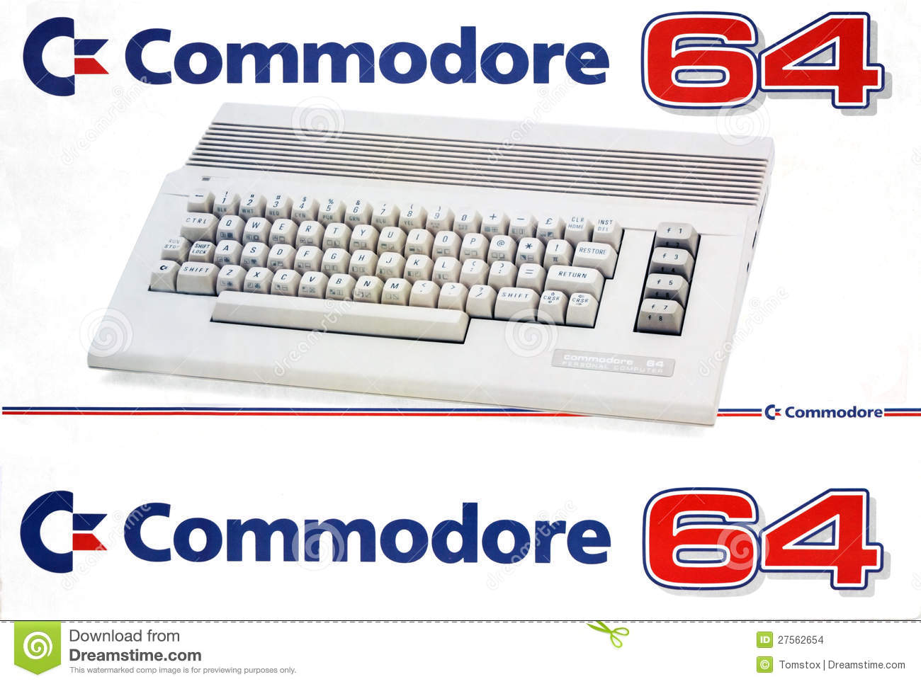 Retro Computer Commodore 64 Editorial Stock Image.