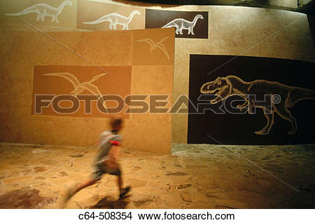 Stock Photo of ?Territorio Din?polis? (Park Paleontology). Teruel.