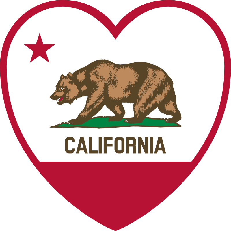 California Map Clip Art.