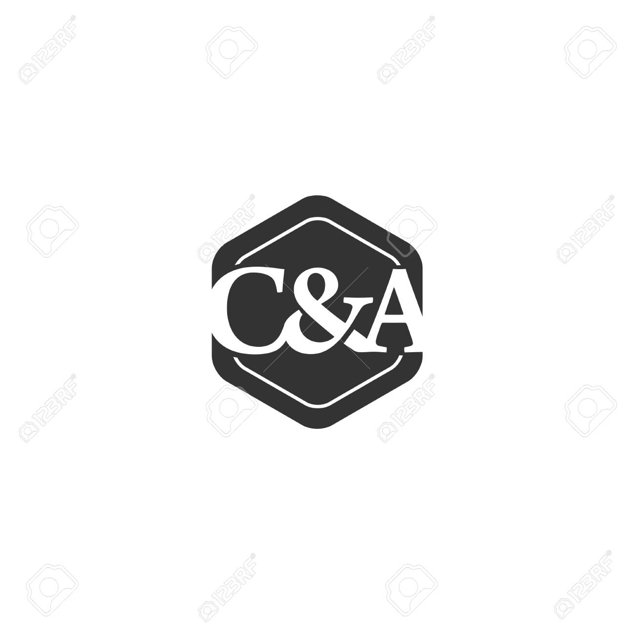 C&A,C and A letter logo design vector illustration template,creative...