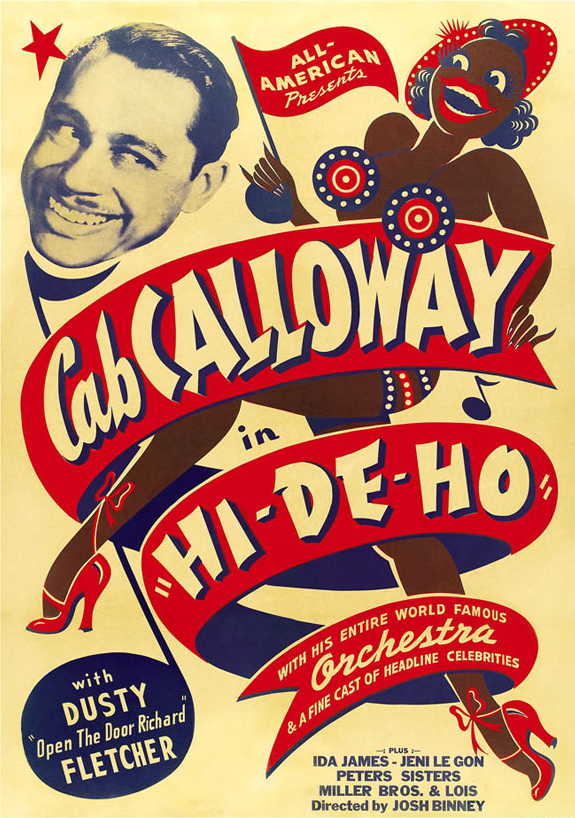 Vintage poster for musician Cab Calloway, Hi.