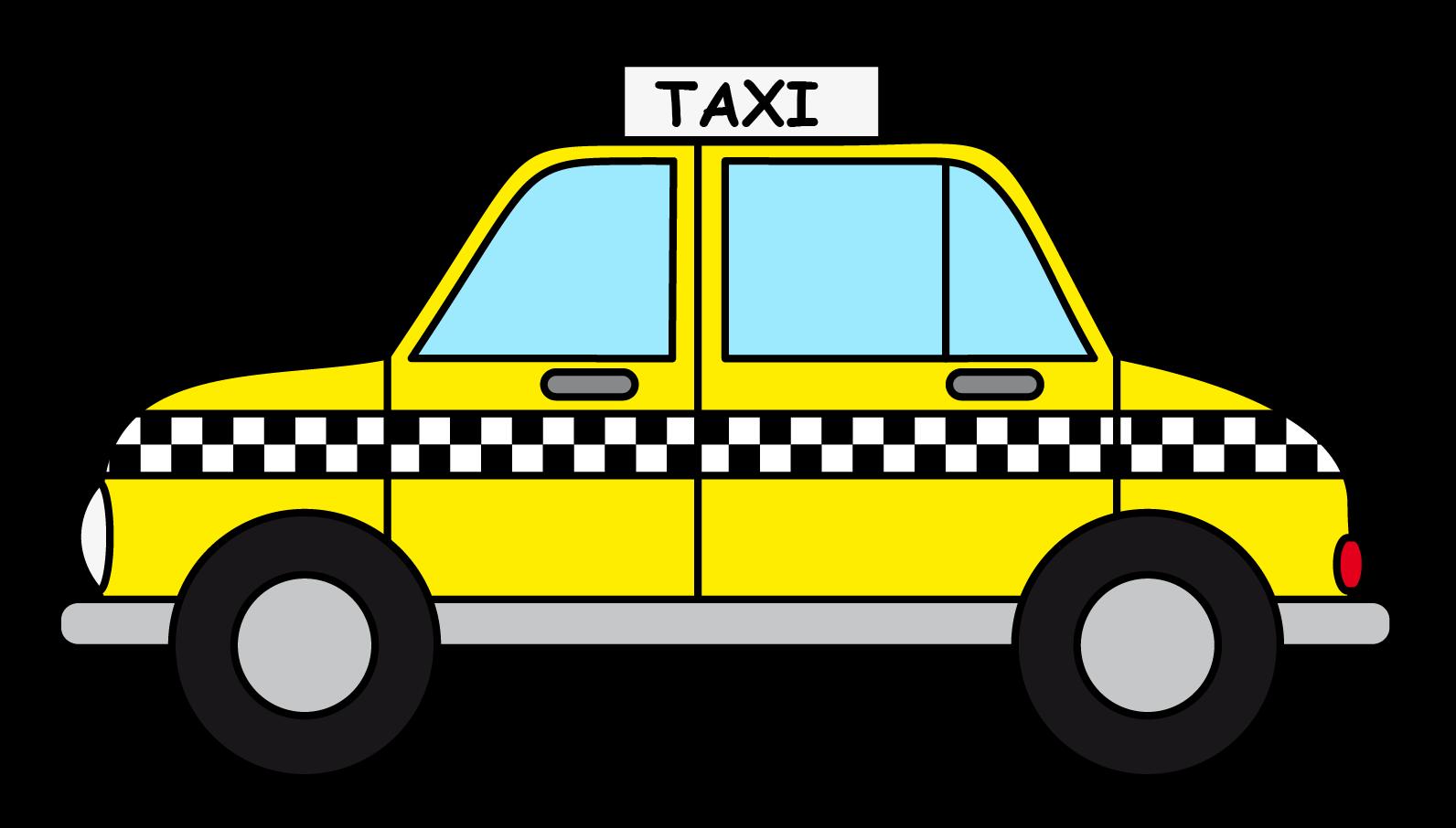 Taxi Cab Clip Art free image.
