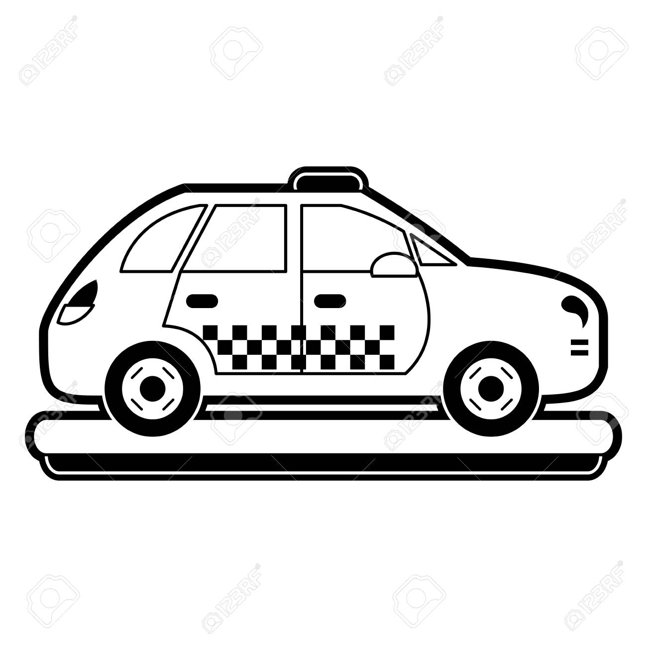 Taxi cab vehicle » Clipart Station.