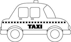 Taxi cab clip art.