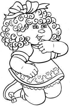 Cabbage Patch Kids Coloring Pages.