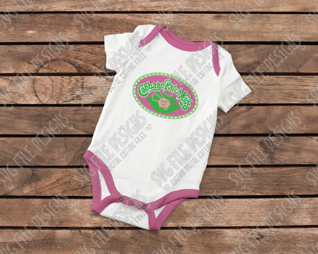 Cabbage Patch Logo Cut Files For Kid's Costume.