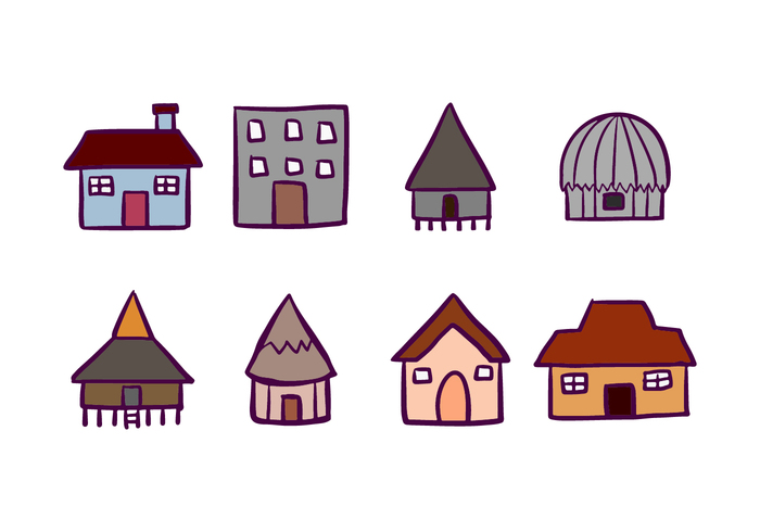 House and Cabana Icons.