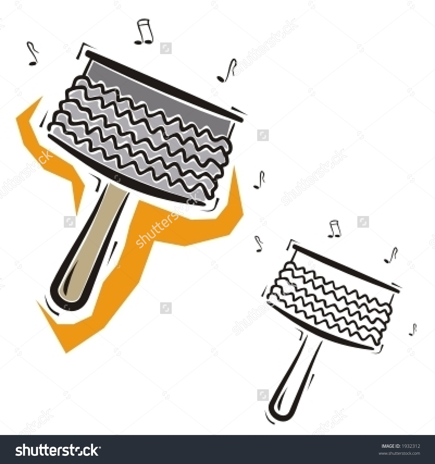 Music Instrument Series. Vector Illustration Of A Percussion.