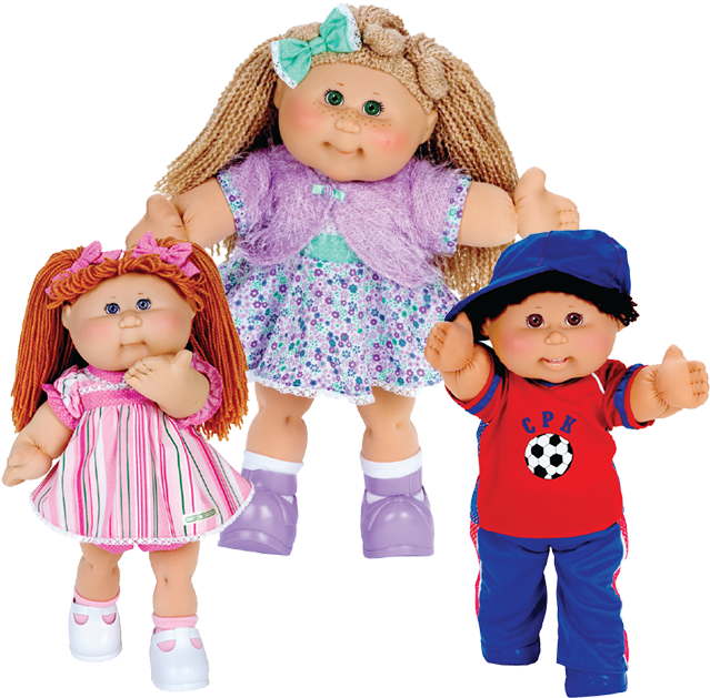 The Little People And Cabbage Patch Kids Celebrate Clipart.