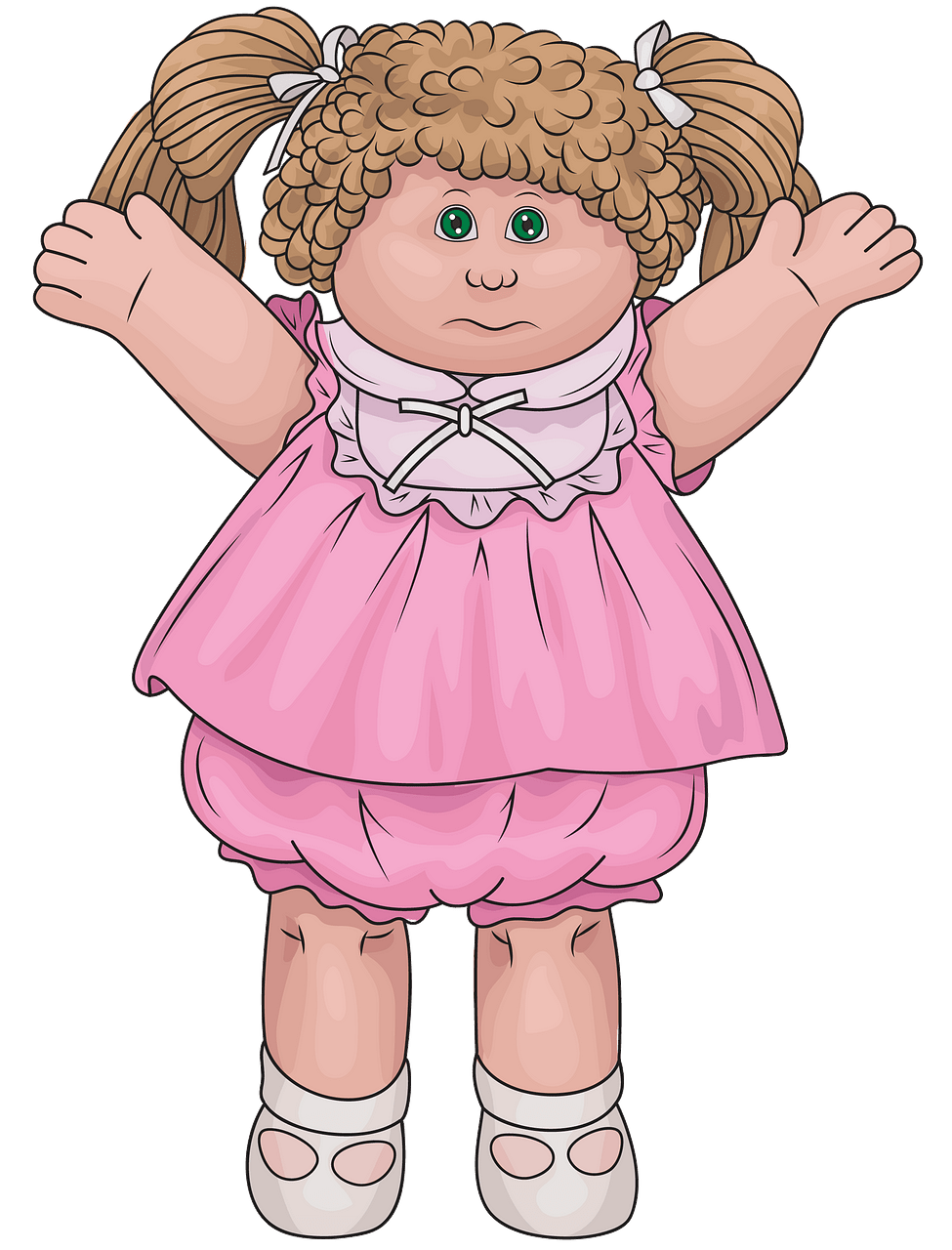 Cabbage Patch doll clipart. Free download..