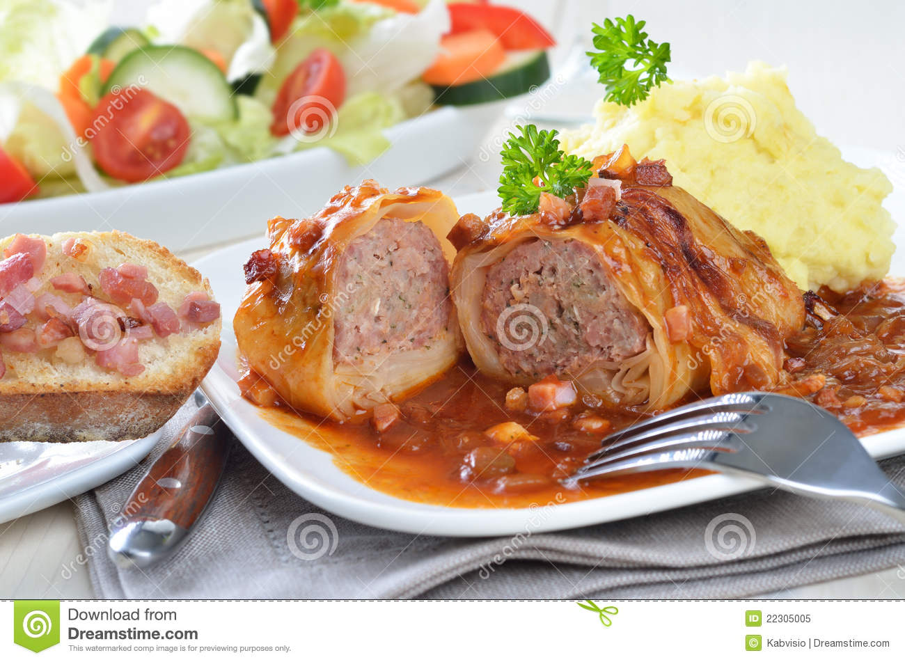 Cabbage Rolls Clipart.