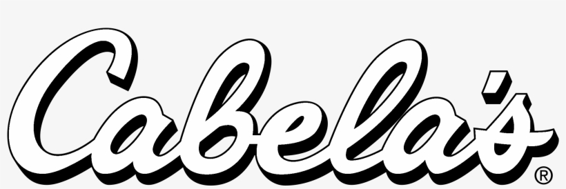 Cabela\'s Logo Black And White.
