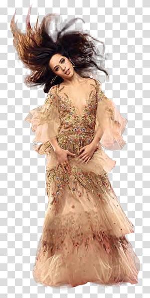 Camila Cabello, woman wearing denim button.
