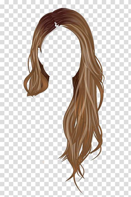 Stardoll Brown hair Wig, cabelo transparent background PNG.