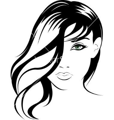 Female portrait vector.