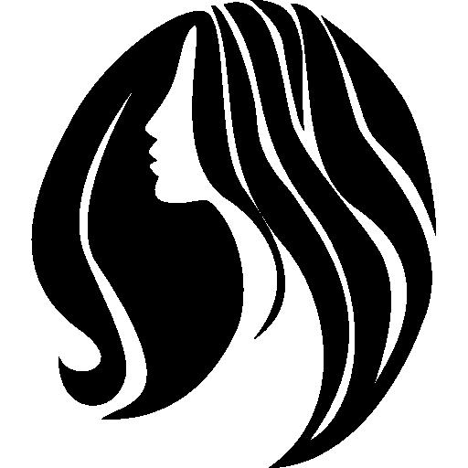 Mulher com cabelo comprido.