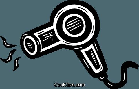 hair dryer Royalty Free Vector Clip Art illustration.