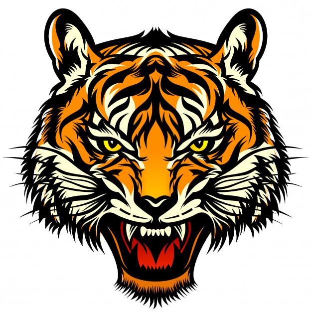 Ilustración de cabeza de tigre.