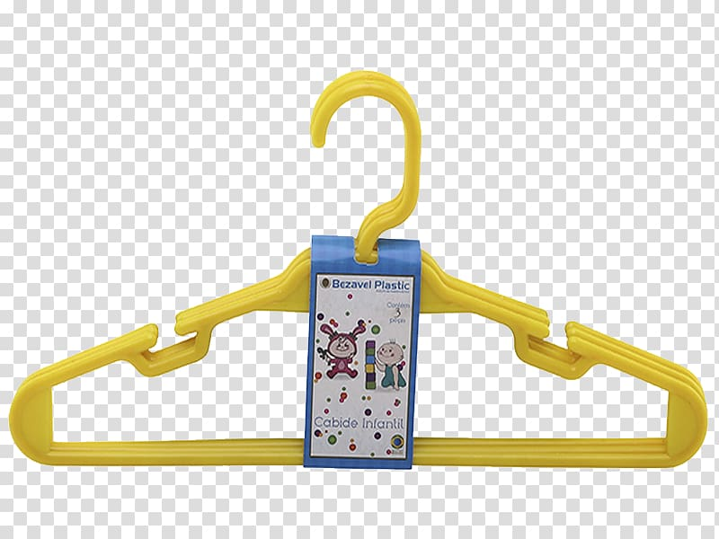 Bezavel Plastic Clothes hanger Yellow Color, Cabide.