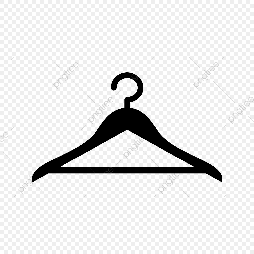 Vector Hanger Icon, Hanger, Cloths, Fashion PNG and Vector with.