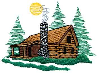 Cabin camping clipart 2.