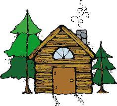 cabin camping fishing clipart.