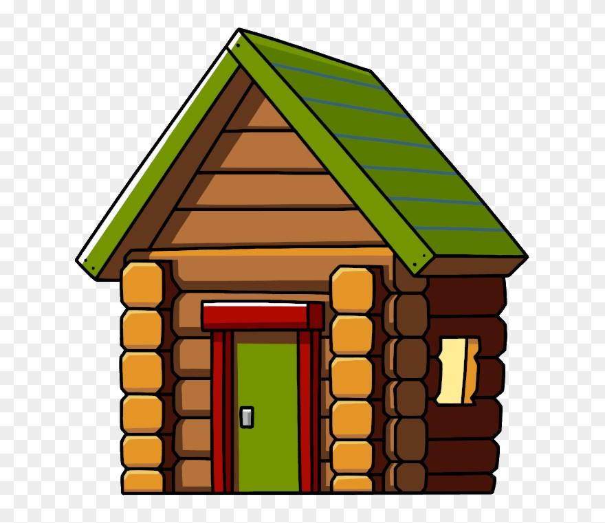 Log House Png Clip Art Stock.