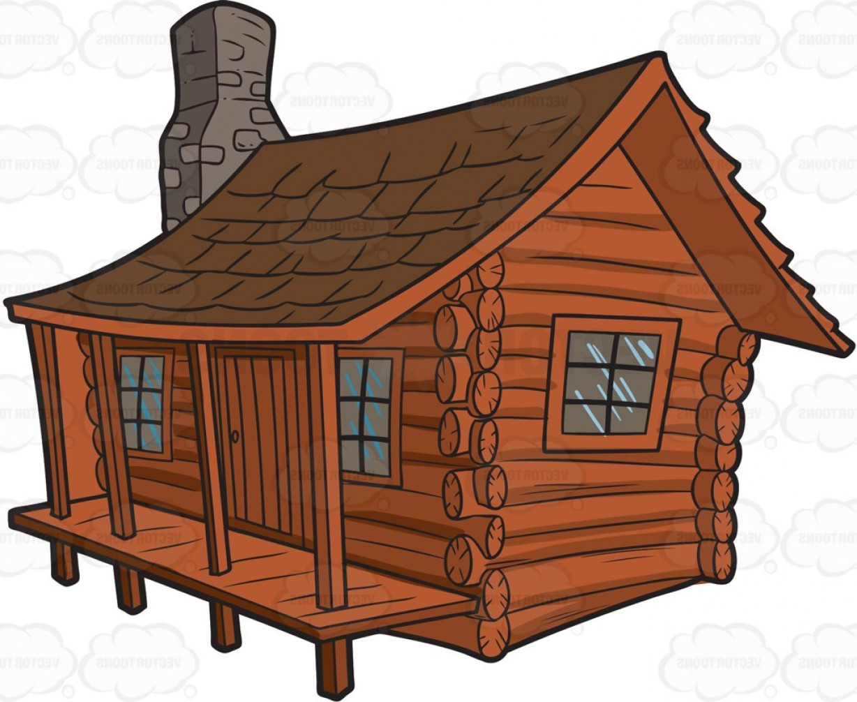 Exclusive log cabin clip art at clker vector.