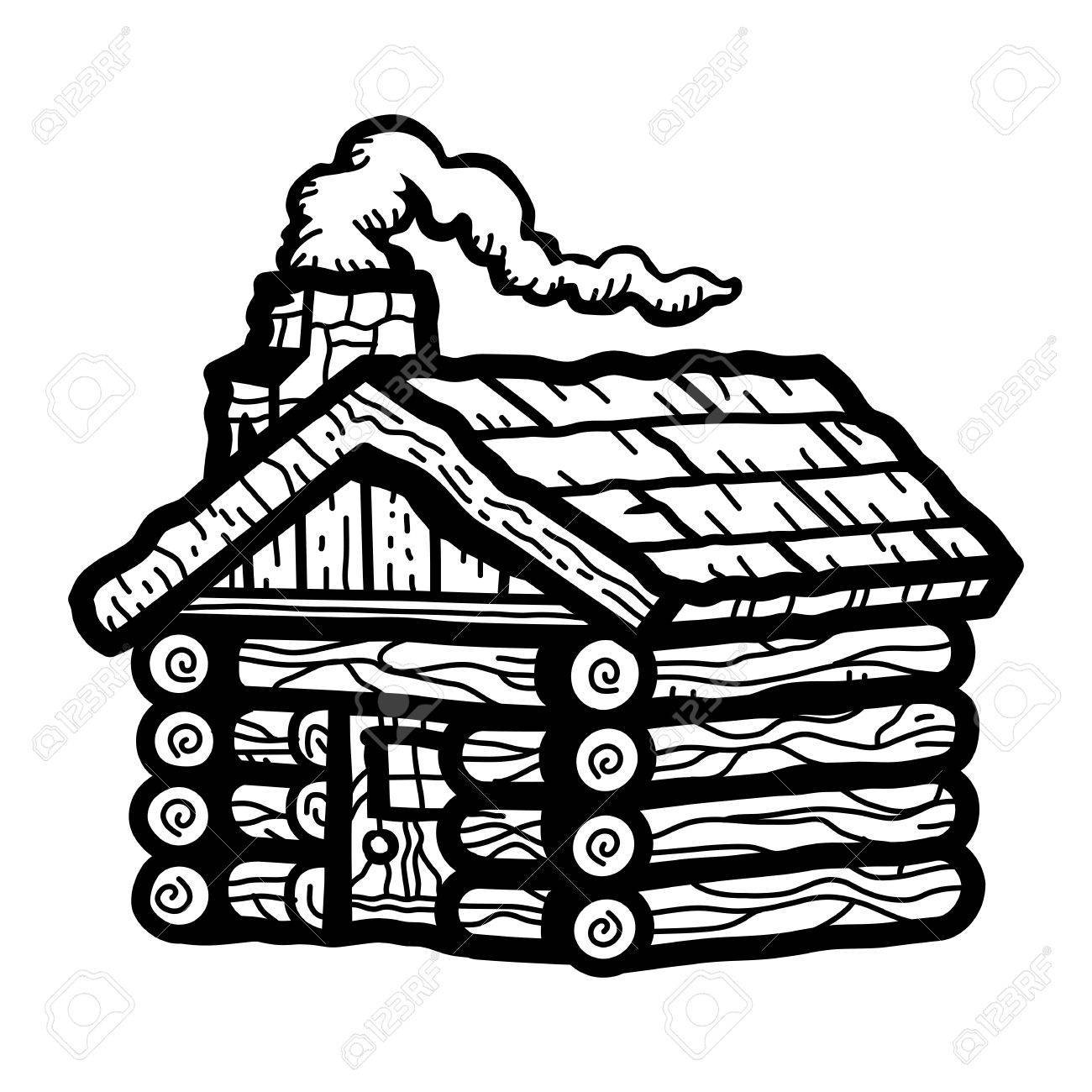 Log cabin clipart black and white 4 » Clipart Portal.