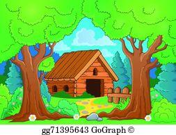 Cabin Woods Clip Art.