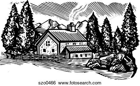 Cabin in the woods clipart 2 » Clipart Portal.